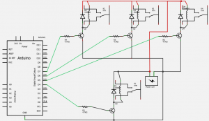 in the diagram above we see how even adding only 3 relays to the initial one we have enough confusion with a significant increase of components and lines
