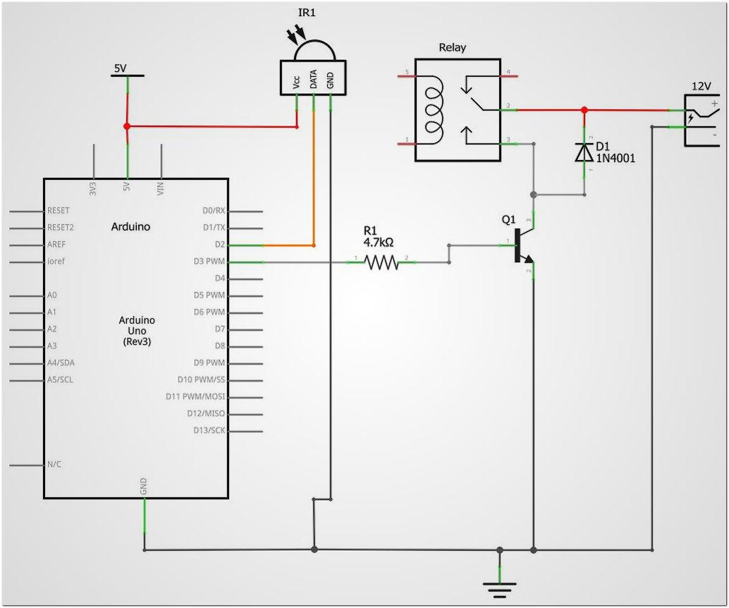 Schema Cablaggio Relè : Arduino relè e infrarossi mcmajan