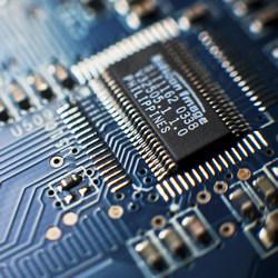 A computer circuit board.